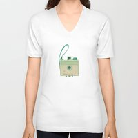 mint V-neck T-shirts featuring Mint by Cassia Beck
