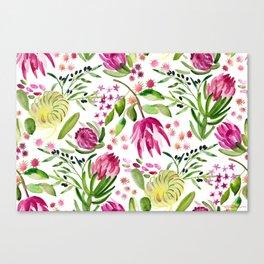 Protea Flower Bloom Canvas Print