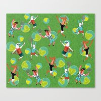 tennis Canvas Prints featuring Tennis by misslin