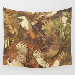Red-Throated, Black-capped, Spotted, Barred Wall Tapestry