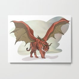 Manticore illustration Metal Print