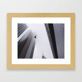 Bird Amidst the Fog Framed Art Print