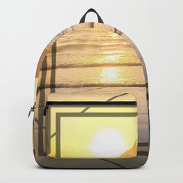 Port Erin - square diamond graphic Backpack