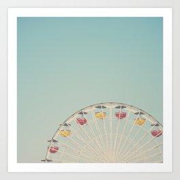 ferris wheels ... Art Print