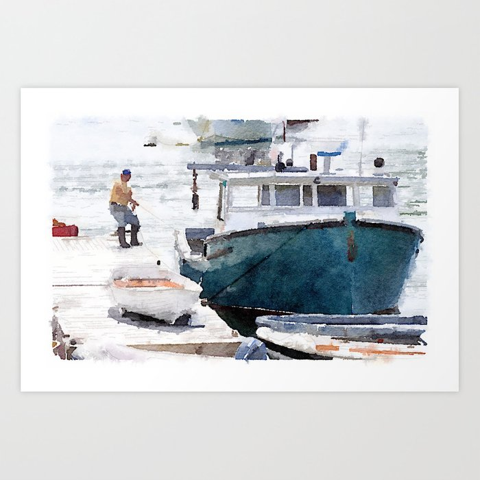 Lobster Boat Art Print