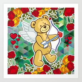 Cupid Bear Art Print