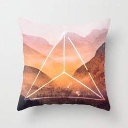 The Elements Geometric Nature Element of Fire Throw Pillow