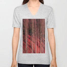 Red Forest Unisex V-Neck