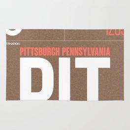PIT Pittsburgh Luggage Tag 2 Rug