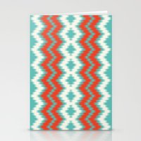 ikat Stationery Cards featuring Ikat by Deepti Munshaw