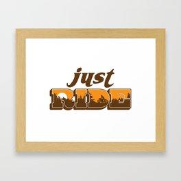 jr Framed Art Print
