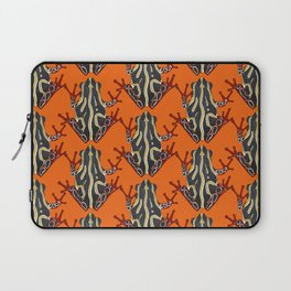 congo tree frog orange Laptop Sleeve