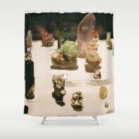 gem Shower Curtains featuring gem by ghostchesters