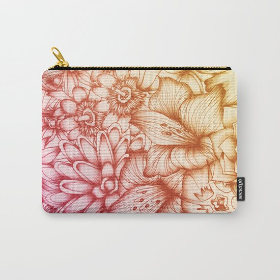 Tropical Flowers II Carry-All Pouch