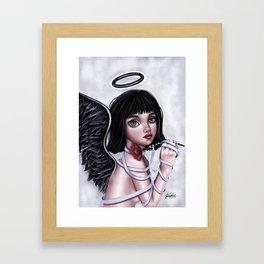 Her dark,lovely soul Framed Art Print