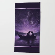 Lovers Under A Starlit Sky Beach Towel