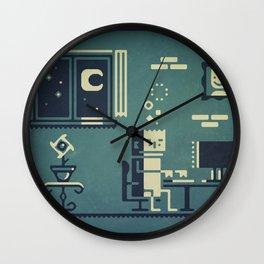 Screenstruck graphic illustration Wall Clock