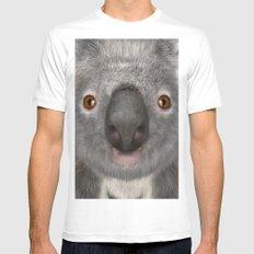 Koala Bear Mens Fitted Tee MEDIUM White