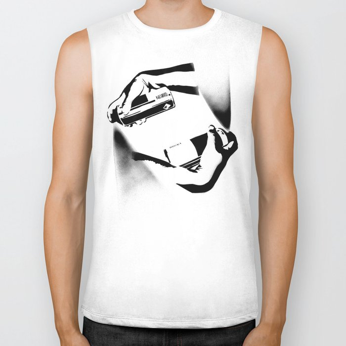 Spraying Hands Biker Tank