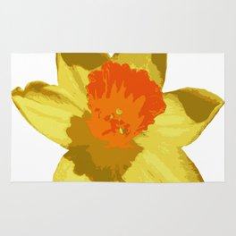 Spring Daffodil Vector Isolated Rug