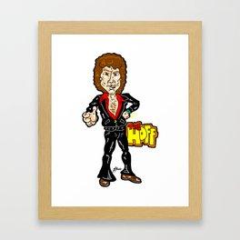 Don't Hassel, The Hoff! David Hasselhoff ala The Knight Rider Days! Framed Art Print