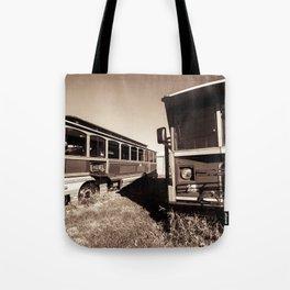 Trolly Ride Tote Bag