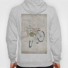 Vintage bicycles with roses basket Hoody