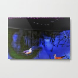 The Blue, Blue Lagoon Metal Print