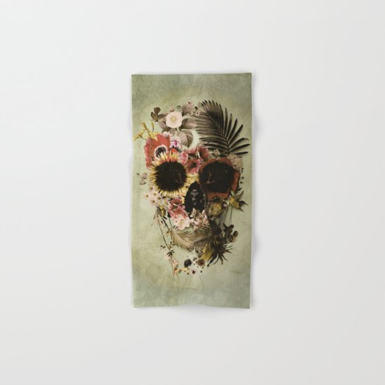 Garden Skull Light Hand & Bath Towel