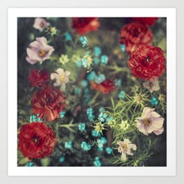 Spring Message - Colourful Flowers Art Print