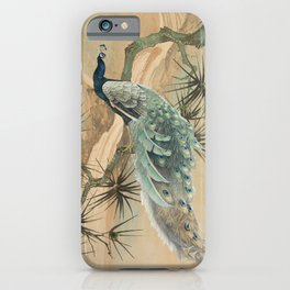 Peacock In The Pines iPhone Case
