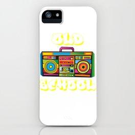 Old School Hip Hop Boom Box Rap Shirt iPhone Case
