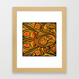Rooster DeKooning Framed Art Print