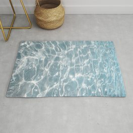 Crystal Clear Blue Water Photo Art Print | Crete Island Summer Holiday | Greece Travel Photography Rug