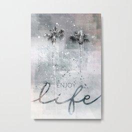 Idyllic palm trees | enjoy life Metal Print