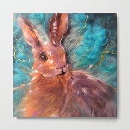 Hare I am Metal Print