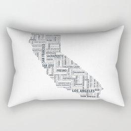 California Typography Print Rectangular Pillow