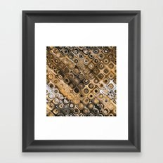Brown And Tan Abstract Framed Art Print