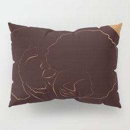 African American couple magic melanin beauty, dark skin girl, black girl, afro girl, loving couple, happy couple Pillow Sham