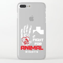 Activist Vegan Pet Owners Animals Lover Fight For Animal Rights Wildlife Gift Clear iPhone Case