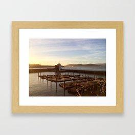 Bay times Framed Art Print