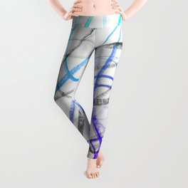 Expressive and Spontaneous Abstract Marker Leggings