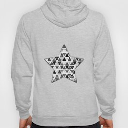 Black and White Ink painted Triangles Hoody