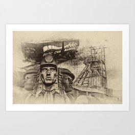Mining Tribute Antique 2 Art Print