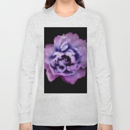 Indulgent Darkness, Violet Peony Long Sleeve T-shirt