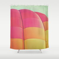 balloon Shower Curtains featuring Balloon by Jessica Torres Photography