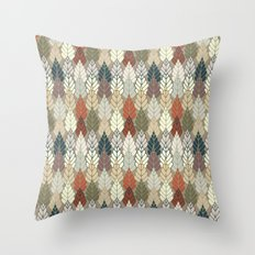 Trees Forest Pattern Throw Pillow