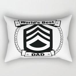 WORLD'S BEST DAD Abstract Art Rectangular Pillow