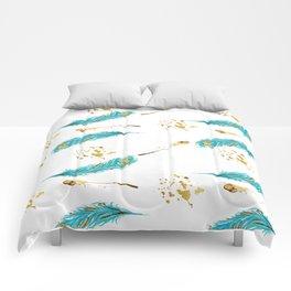 Peacocks a sparkle Comforters