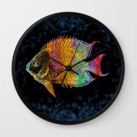 fish Wall Clocks featuring  Fish by Vitta